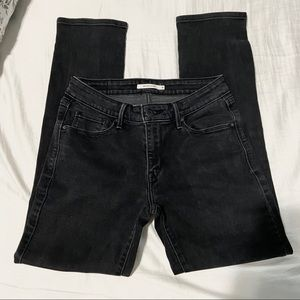 LEVIS/ mid rise skinny jeans in black